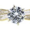0.72 ct. Round Cut Bridal Set Ring, H, VVS2 #4