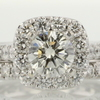 0.97 ct. Round Cut Bridal Set Ring #1
