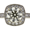 1.33 ct. Round Cut Halo Ring, M-Z, VS1 #4