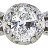 1.01 ct. Oval Cut Bridal Set Ring, G, VS2 #4