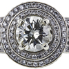 2.13 ct. Round Cut Halo Ring, M-Z, SI2 #4
