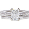 1.2 ct. Radiant Cut Bridal Set Ring, F, VS2 #3