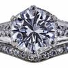 1.00 ct. Round Cut Bridal Set Ring, D, VVS2 #4