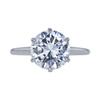 3.12 ct. Round Cut Solitaire Ring, F, SI1 #3