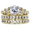 0.92 ct. Round Cut Bridal Set Ring, F, VS2 #1