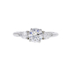 0.85 ct. Round Cut 3 Stone Ring, G, SI2 #3