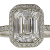 2.01 ct. Emerald Cut Halo Ring, G, VS1 #4