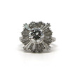 1.75 ct. Round Cut Central Cluster Ring #1