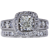 1.20 ct. Cushion Cut Bridal Set Ring, K, SI1 #3