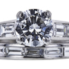 1.23 ct. Round Cut Bridal Set Ring, G, VS1 #2