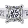 1.60 ct. Princess Cut Bridal Set Ring, H, SI2 #4