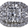 1.56 ct. Princess Cut Bridal Set Ring, H, I1 #4