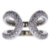Hermes 18K White Gold Diamond Lima Pave Ring #1