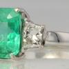 2.50 ct. Emerald Cut 3 Stone Ring #3