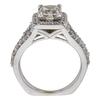 1.2 ct. Princess Cut Halo Ring, G, SI2 #4