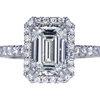 2.01 ct. Emerald Cut Halo Ring, H, VS1 #3