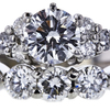 0.76 ct. Round Cut Bridal Set Ring, F, SI1 #4