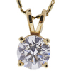 0.78 ct. Round Cut Pendant Necklace, H, SI2 #4