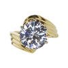 3.69 ct. Round Cut Solitaire Ring, H, I1 #3
