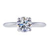 1.34 ct. Round Cut Solitaire Ring, G, VS1 #3