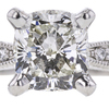 1.00 ct. Cushion Cut Solitaire Ring, I, SI2 #1