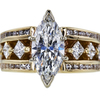 1.77 ct. Marquise Cut Bridal Set Ring, G, I1 #3
