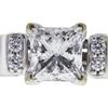 0.97 ct. Princess Cut Bridal Set Ring, G, I1 #4