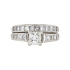 1.01 ct. Princess Cut Bridal Set Ring, H-I, I1 #2