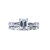 1.07 ct. Emerald Cut Bridal Set Ring, D, VVS1 #3