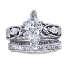 1.00 ct. Marquise Cut Bridal Set Ring, G, SI2 #3