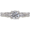 0.87 ct. Round Cut 3 Stone Ring, H, I1 #3