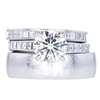 1.75 ct. Round Cut Bridal Set Ring, F, VS1 #1