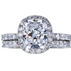 2.35 ct. Cushion Cut Halo Ring, E, VS2 #3