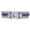 0.71 ct. Princess Cut Bridal Set Ring, H, SI1 #3