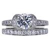 1.09 ct. Round Cut Bridal Set Tiffany & Co. Ring, E-F, VS1 #2