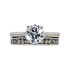 1.32 ct. Circular Brilliant Cut Bridal Set Ring, J, I1 #3