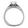 1.04 ct. Round Cut Bridal Set Ring, E, I1 #4