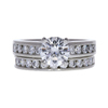 1.12 ct. Round Cut Bridal Set Ring, H, VS2 #2