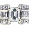 1.02 ct. Emerald Cut Bridal Set Ring, J, VS1 #4
