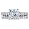 2.03 ct. Cushion Cut Bridal Set Ring, H, VS1 #3