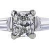 0.76 ct. Princess Cut Bridal Set Ring, G, VS2 #4