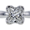 1.33 ct. Princess Cut Solitaire Ring, F, VS1 #4