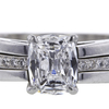 1.67 ct. Cushion Cut Bridal Set Ring #4