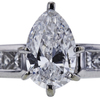 1.00 ct. Pear Cut Solitaire Ring, E, SI1 #4