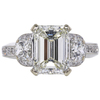 3.04 ct. Emerald Cut 3 Stone Ring, K, SI1 #3