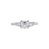 1.04 ct. Square Emerald Cut 3 Stone Ring, E, SI1 #3