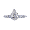 1.00 ct. Pear Cut Solitaire Ring, G, I1 #4