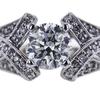 1.01 ct. Round Cut Bridal Set Ring, I, I1 #4