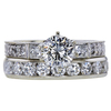 0.85 ct. Round Cut Bridal Set Ring, J, VS2 #3