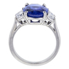 Antique 5.11 ct. Oval Cut 3 Stone Ring, Blue, SI1-SI2 #3